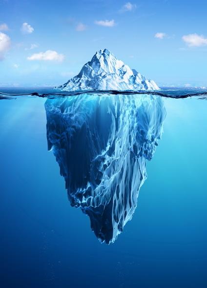 Iceberg pour représenter le conscient et le subconscient